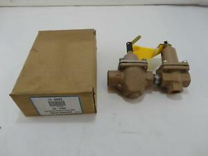 New Watts 4a822 Dual Control Pressure Relief Valve Regulator 1 2 1450f
