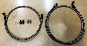 Ptfe Braided Stainless Transmission Line Set 1999 2007 Gm Truck Suv 4l60 65 70e