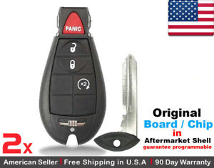 2 Oem Replacement Keyless Entry Remote Key Fob For Dodge Ram Jeep Cherokee