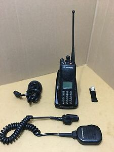Fire Motorola Xts3000 3 Uhf P25 Digital Police Radio W Programming Security