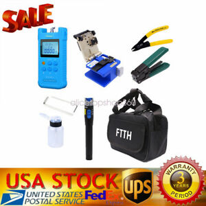 Fiber Optic Ftth Tool Kit With Fc 6s Fiber Cleaver And Optical Power Meter Set