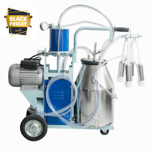 Cows Milking 25l Stainless Electric Milking Machine Bucket Milker 110v