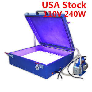 110v Vacuum Exposure Unit 24 X 26 Precise Screen Printing Compressor Outside