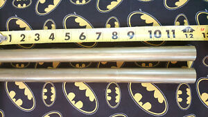 7 8 C360 Brass Solid Round Rod 12 Long 2 Pieces 7 8 Dia Free Machining New