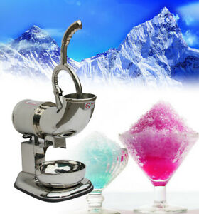 Commercial Ice Shaver Machine Snow Cone Maker Shaved Ice Electric Crusher New