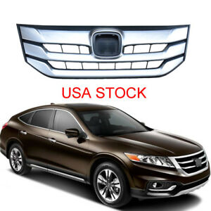 New Front Grille Upper Grill Silver Chrome For Honda Accord Crosstour 2013 2018