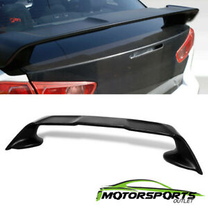 For 2008 2017 Mitsubishi Lancer Evo10 Abs Rear Trunk Spoiler Wing Black Lid Lid