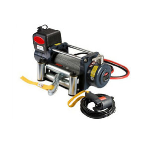 Universal Kds 12 0c 12000lb Pound Recovery Electric Winch 12v Steel Cable Rope