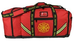 Fireman Premium Firefighter Rescue Step in Turnout Fire Gear Bag Shoulder Red