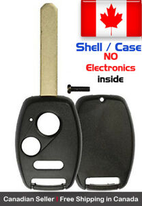 1x New Replacement Keyless Remote Key Fob Shell Case For Honda Accord Crv Crz