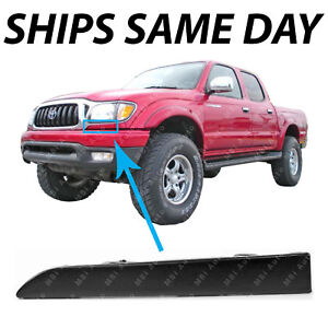 New Primered Driver Side Front Bumper Grille Filler For 2001 2004 Toyota Tacoma