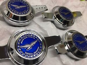 Lowrider Hydraulics Zenith Wire Wheel 2 25 Metal Chip Emblems Candy Blue New