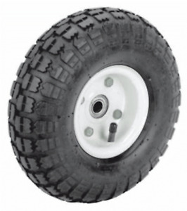 4 Tires 10 New Steel Air Pneumatic Hand Truck Dolly Wagon Wheel