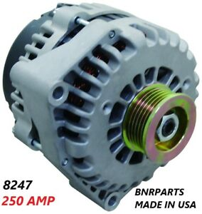 250 Amp 8247n Alternator High Output Chevy Cadillac Gmc Performance Made In Usa