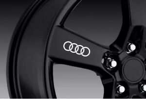 Fits Audi Rings Logo Wheel Vinyl Decal Sticker any Color 4x