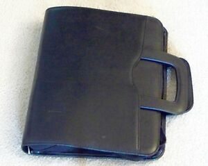 Day Timer Monarch Folio Black Simulated Leather Binder With Accessories