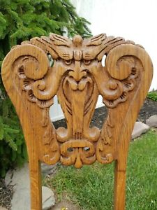 Oak North Wind Chair C 1900 Gothic Local Pickup Or Buyer Arranges Shipping