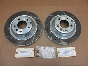 08 Cayenne Turbo Awd Porsche 957 L R Rear Brake Rotors Left Right 113 937