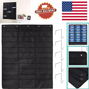30 Pockets File Organizer Heavy Duty Storage Pocket Chart 5 Over Door Hangers