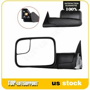Side Manual Extend Tow Mirrors For 1994 01 Dodge Ram 1500 94 02 2500 3500 Pair