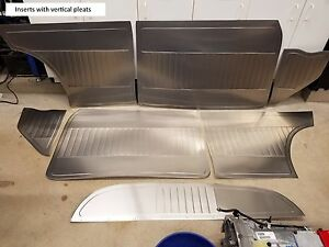 53 57 Chevy Gasser Aluminum Door Quarter Kick Tray Panels Custom Bead Rolled
