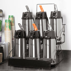 7 Piece Airpot Merchandising Rack Set With 1 Rack And 6 2 2 Liter Airpots