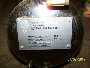 Tuttnauer Autoclave Sterilizer 1730ek Chamber Assembly W mounting Hardware