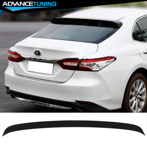 Fits 18 21 Toyota Camry Ikon Style Matte Black Primer Roof Lip Spoiler Abs