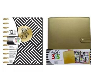 Create 365 Happy Planner Deluxe Cover Big Gold And Planner Get It Girl