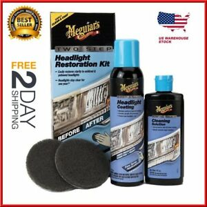 New G2970 Two Step Keep Clear Headlight Restoration Coating Spray Kit