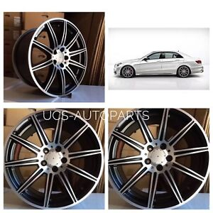 18 Mercedes Benz E Class W212 E250 E350 E550 E63s Amg Black Rims Wheels