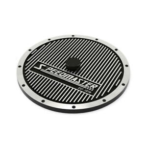 Speedmaster Air Cleaner Top Pce103 1014 Round Aluminum Black Powdercoat 14 000