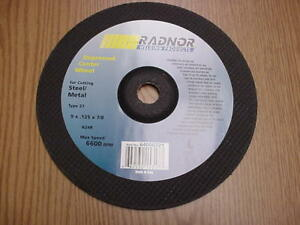 20 Pack 9 x 0 125 x7 8 Cut Off Wheel Metal Stainless Steel Cutting Discs