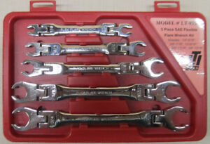 Lti Tools Model Lt 975 5 Piece Sae Flexible Flare Wrench Set 664766336874