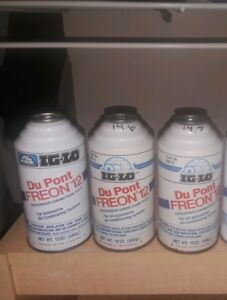 Ig lo R12 Refrigerant 3 Full Weighed Cans Ships Fast