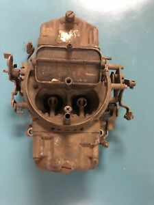 Holley 4776 600 Cfm Double Pumper Carburetor Good Core Moves Freely Manual Choke