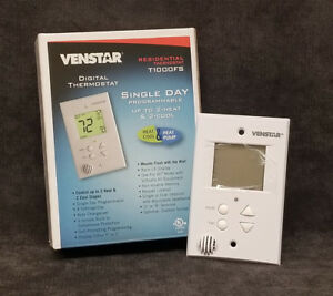 discount Hvac T1000fs Venstar Thermostat Single Day Programmable Flush Mount