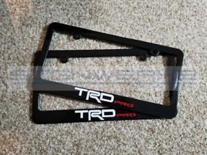 Trd Pro License Plate Frame Tundra Tacoma 4 Runner 2 Colors Pair
