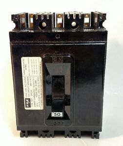 Fpe 50 Amp Circuit Breaker 480 Vac 3 Pole Nef Excellent Used Condition