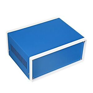 Uxcell Metal Blue Project Junction Box Enclosure Case 200 X 165 X 90mm 7 87 X 6