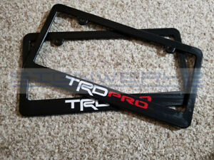 Trd Pro License Plate Frame Tundra Tacoma 4 Runner New 2 Colors Pair