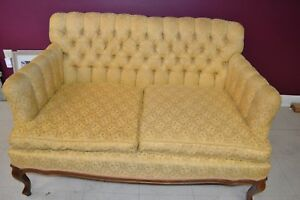 One Pair Antique Victorian Love Seats Sofa Couch