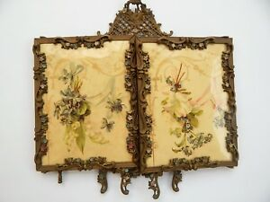 Antique Tri Fold 3 Panel Mirror Celluloid Victorian Era