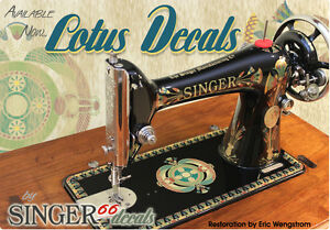Lotus Singer Model 66 Color Correct Fresh Sewing Machine Restoration Decals