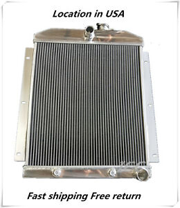 3rows Aluminum Radiator 1947 1948 1949 1950 1951 1952 53 1954 Chevy Pickup Truck