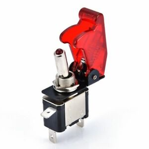 Universal 12v 20a Racing Car Vehicle On Off Light Rocker Toggle Switch Cover Yh
