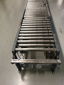 120 Ft Power Roller Conveyor System 10 Ft Sections