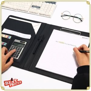 Multi Function A4 Pu Leather Portfolio Conference Clipboard Holder Business