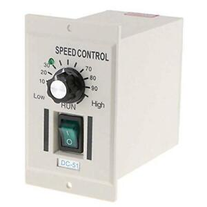 Ac 110v 400w Knob Motor Speed Controller Dc 0 90v Variable Adjust Lathe Control