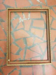 Antique Wooden Red And Gold Frame